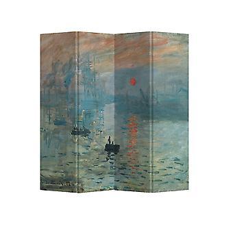 Grzywny Asianliving Pokój Divider Privacy Screen 4 Panele W160xH180cm Claude Monet Wrażenie Sunrise