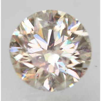 Certificado 0.60 Quilate j VS2 rodada brilhante enhanced natural loose diamante 5.27mm