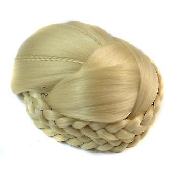 Hair Bun Braided Band Chignon Clips In Hair Extension Hairpin Red