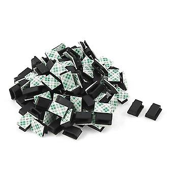 100 Pcs Of Self-adhesive Cable Tie Mount
