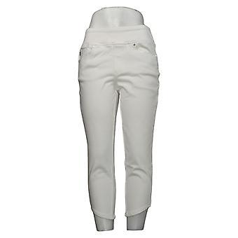 Belle by Kim Gravel Leggings Flexibelle Curved Hem Cropped White A377252