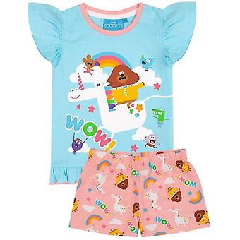 Hey Duggee Girls Unicorn Frill Pyjama Set