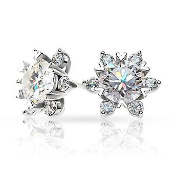 Moissanite Silver Plated Star Stud Jewelry Earring