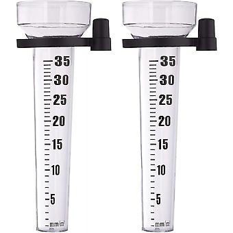 Outdoor Rain Measurement In The Garden, Transparent Rain Can Be Inserted Everywhere (2 Pieces)