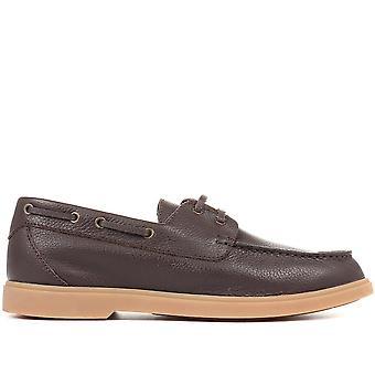 Jones Bootmaker Zapatos de barco de cuero para hombre Filadelfia