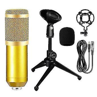מיקרופונים bm800 מיקרופון מעובה מקצועי מיקרופון פודקאסט חי עם כרטיס קול עבור YouTube