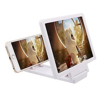 Bärbar 3D HD mobiltelefonskärm förstoringsglas, antistrålning (vit)