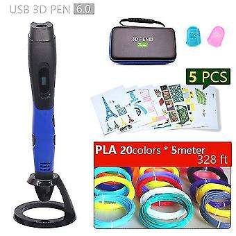 Authentic 3d pen 3d print pen and 1.75mm pla filament christmas gifts+ painting drawings+ free