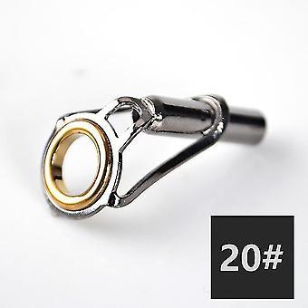 5 sztuk / partia wędki górna prowadnica 1,6 mm-4,6 mm zestaw naprawczy końcówki wędki diy eye rings narzędzie