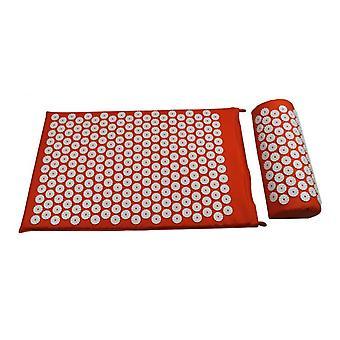 rygg nakke smertelindring akupressur matte med pute og bæreveske massasje
