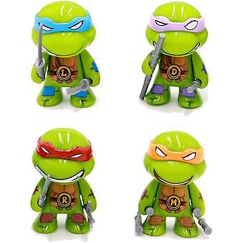 4kpl / laukku Ihana Mini Turtles Actions Kuva Sarjakuva Tartaruga Turtles Lelut Lapsille Anime-hahmo Nukkelelut Lapsille