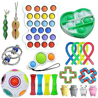 21st ångest relief leksaker set push pop bubbla sensorisk fidget leksak