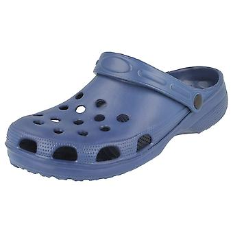 Mens Spot On Synthetic Clogs