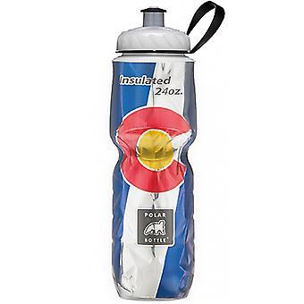 Butelkę Polar Sport izolowane flaga 24 uncji butelkę wody - Colorado