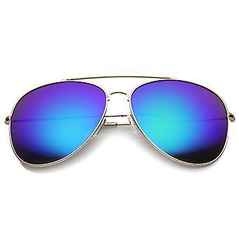 Womens Aviator zonnebril met UV400 beschermd gespiegelde Lens