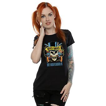 Guns N Roses Women's Use Your Illusion 91 Tour T-Shirt