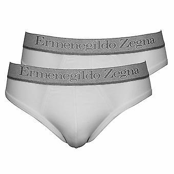 Ermenegildo Zegna Midi 2-Pack Stretch Cotton sumários, branco