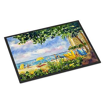 Пляжный курорт вид с кондо крытый или Открытый мат Doormat 24 x 36
