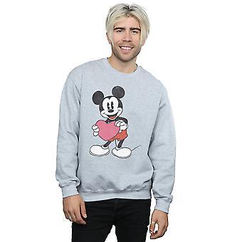 Disney miesten Mikki Hiiri Valentine sydän College pusero