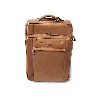 Ladies Leather Laptop Cabin Size Wheeled Hand Luggage Business Trolley Case Bag