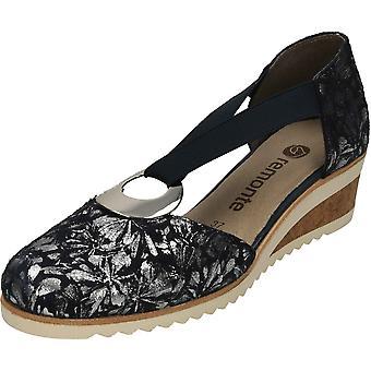 remonte D5502-14 Wedge Tow partie élastiquée chaussures à talons