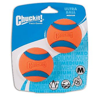 Chuckit Ultra hond bal speelgoed Medium 2-Pack