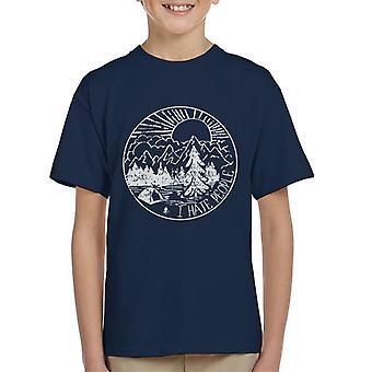 De grote buitenshuis die ik haat mensen Kid's T-Shirt