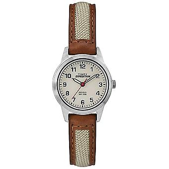 Timex campo Mini in pelle marrone quadrante naturale TW4B11900
