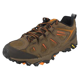 Mens Merrell Walking Trainers Moab Fst Ltr J37809 - Dark Earth Leather - UK Size 7.5M - EU Size 41.5 - US Size 8