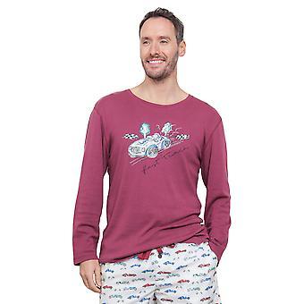 Cyberjammies 6287 miesten Austin punainen Pajama Pyjama huipputason