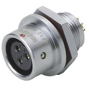 Weipu SF1212/S2 Bullet connector Connector, straight Series (connectors): SF12 Total number of pins: 2 1 pc(s)
