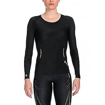 SKINS A400 women of top Long Sleeve black / gold B33156005