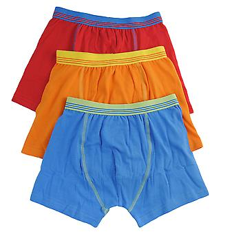 Tom Franks Boys Polycotton Boxershort Underwear (Pack of 3)