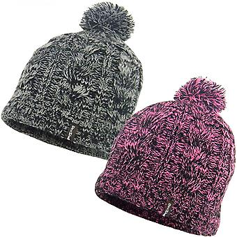 DexShell Womens Winter Strick Fleece gefüttert thermische Pom Pom Beanie Pudelmütze