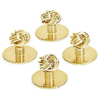 David Van Hagen Set van vijf knoop Design Dress Studs - goud
