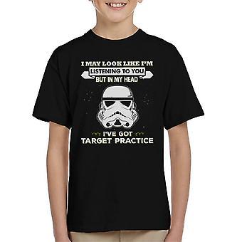 Stormtrooper originale posso sembrare Im ascoltare t-shirt di bambino