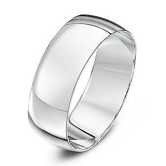 Anéis de casamento estrela 9ct ouro branco luz D forma anel de casamento de 7mm