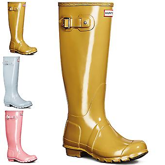 Womens Hunter Original Tall Gloss Winter Snow Rain Waterproof Wellingtons