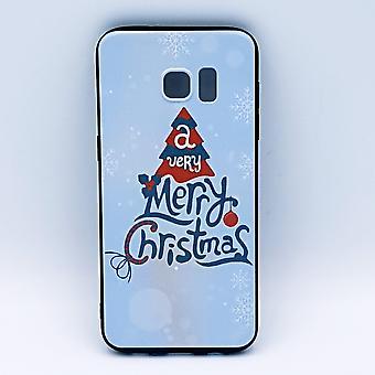 För Samsung S7 Edge pouch-jul-a very Merry Christmas-vit