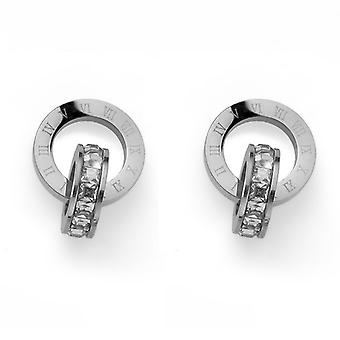 Oliver Weber Earrings Timeless Steel CZ