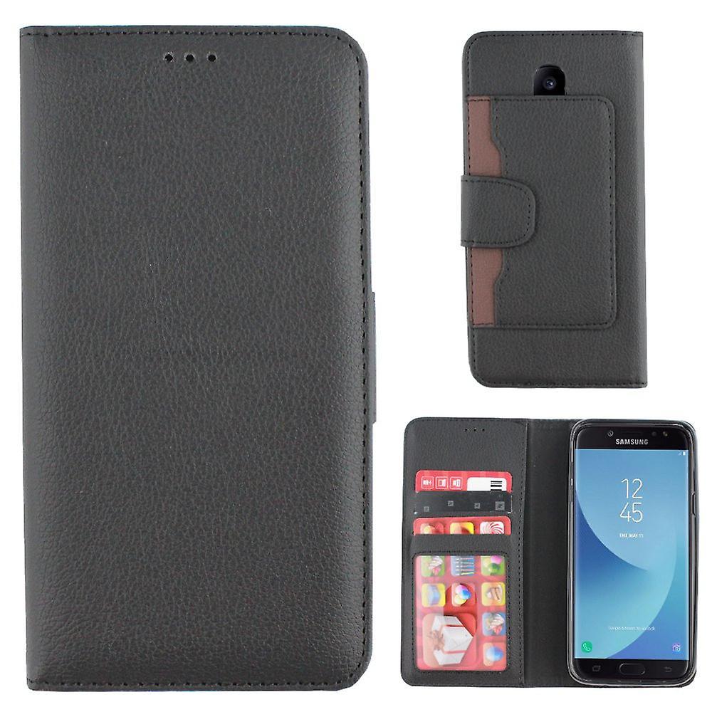 Colorfone Samsung Galaxy J3 2017 portefeuille caisse (BLACK)