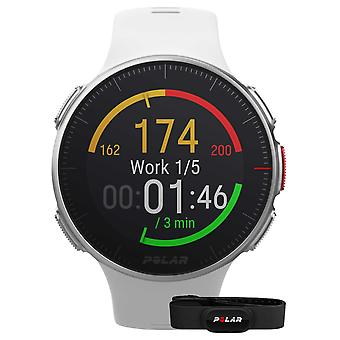 Polar Vantage V (avec sangle HR) GPS multisport White Strap 90069636 montre