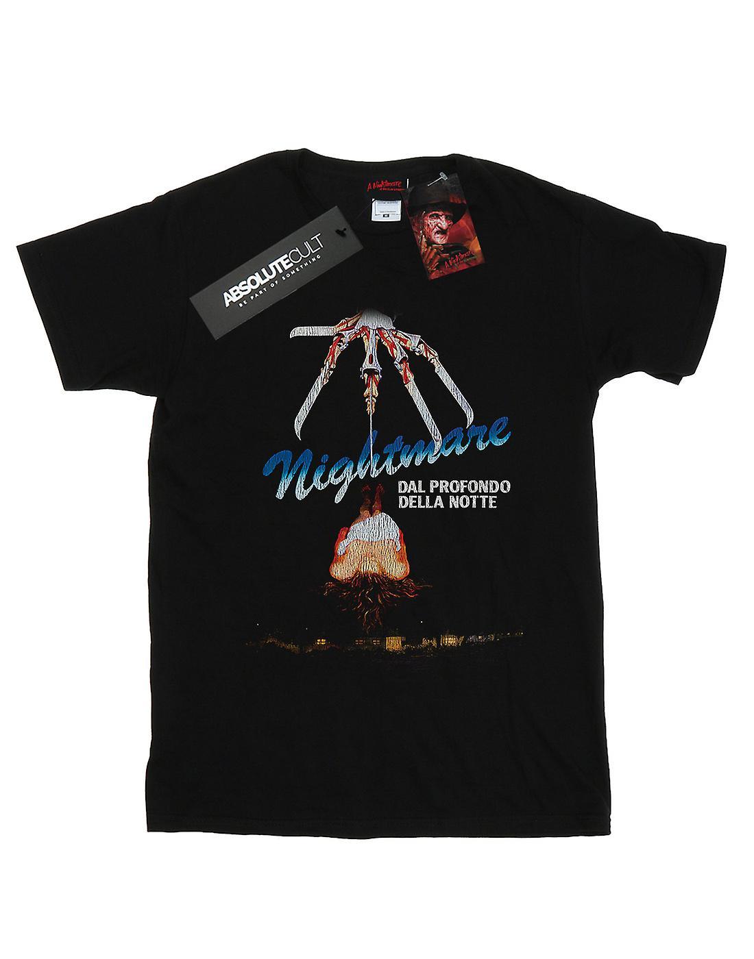 A Nightmare On Elm Street Women's Italian Movie Poster Boyfriend Fit T-Shirt