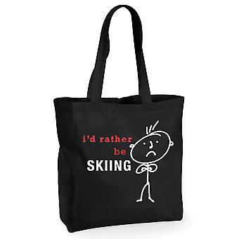Mens אני ' די להיות סקי שחור כותנה שקית קניות