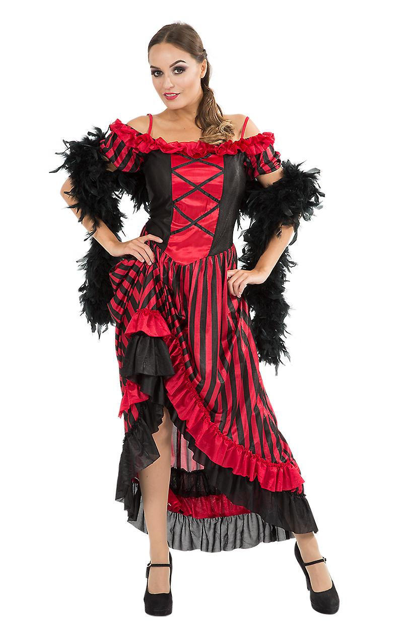Orion Costumes Womens Red Sexy Can Can Saloon Girl Fancy Dress Costume