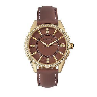 Bertha Clara Leder-Band Uhr - Mauve
