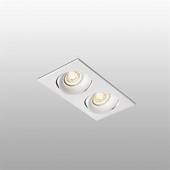 Faro - Argon vit dubbel enkel Square infällda Spotlight FARO43403