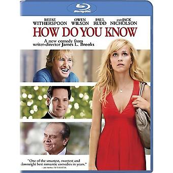 How Do You Know [BLU-RAY] USA import