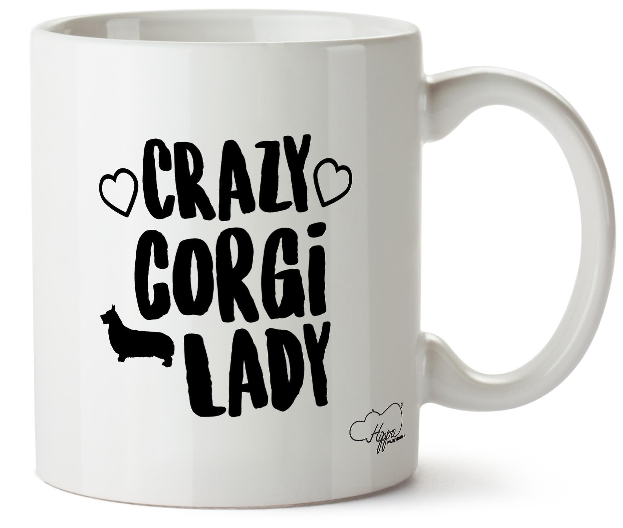 Корги Hippowarehouse Crazy леди собака напечатаны Кубка керамическая кружка 10oz