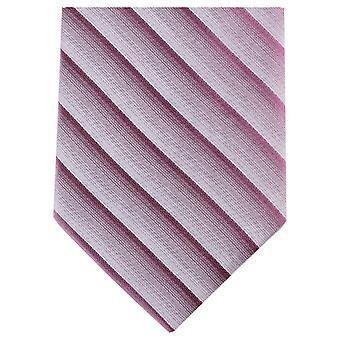 Cravatte di Knightsbridge Shadow Stripe regolari poliestere cravatta - rosa